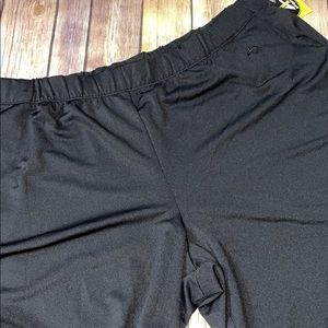 athletech Black Joggers with Blue Lining, XL